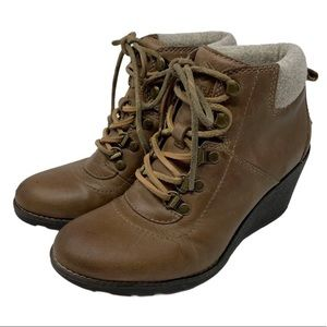 Sperry Celeste Bliss Wedge Booties Ginger Size 7